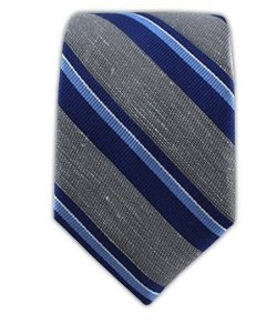 The Tie Bar  - Linen Blend Social Stripe Tie