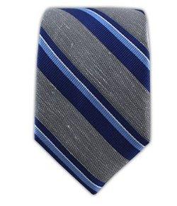 The Tie Bar  - Linen Blend Social Stripe Tie