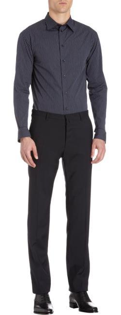 ARMANI COLLEZIONI  - Fine Stripe Dress Shirt