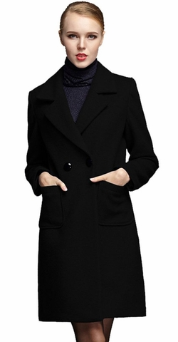Ilishop - Slim Md-Long Wool Coat