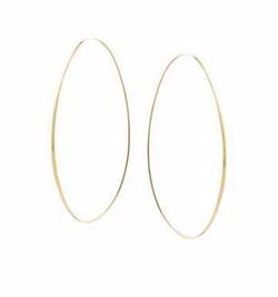 Lana - Large Tear Hoop Earrings