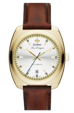 Zodiac - Sea Dragon Automatic Leather Strap Watch