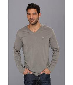 Lacoste  - Long Sleeve Pima Jersey V-Neck T-Shirt