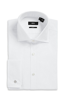 Boss - Spread Collar Cotton French Cuff Dress Shirt