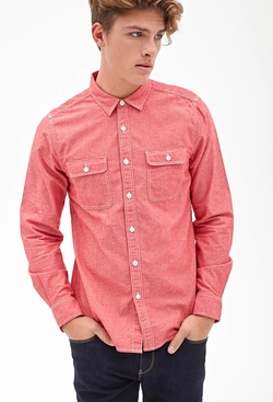 21Men - Western-Inspired Denim Shirt