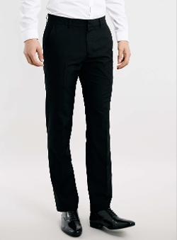 Topman - Black Slim Smart Trousers