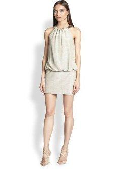 Laundry by Shelli Segal  - Beaded-Neckline Blouson Dress