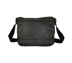 Eastpak - Delegate Black Leather Reporter
