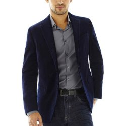 JF J. Ferrar - Slim-Fit Velvet Sport Coat