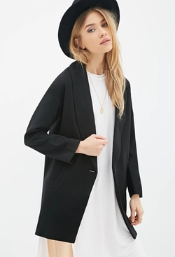 Forever21 - Shawl Collar Overcoat