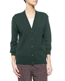 Tory Burch	 - Madison Wool V-Neck Cardigan Sweater