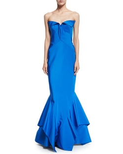 Zac Posen  - Sweetheart-Neck Trumpet Gown