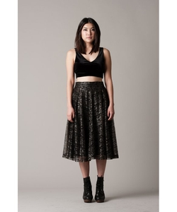Lucca Couture  - Midi Pleated Skirt