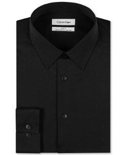 Calvin Klein - Slim-Fit Solid Performance Dress Shirt