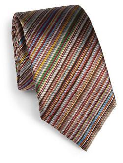 Paul Smith  - Diagonal Silk Stripe Tie