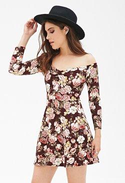 Forever21 - Floral Print Skater Dress