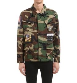 BBC-Billionaire Boys Club - Patched Camo Printed Shirt