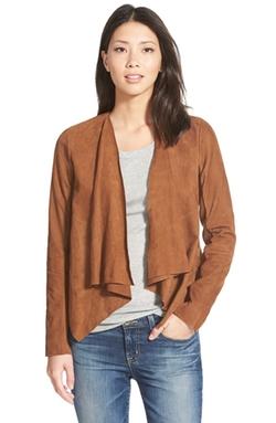 Caslon - Suede Drape Front Jacket
