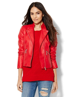 New York & Company - Quilted Moto Jacket