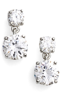 Givenchy - Cubic Zirconia Drop Earrings