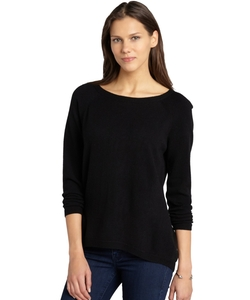 Shae - Black Hi Low Cashmere Pullover Sweater