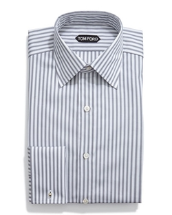 Tom Ford - HD Striped French Cuff Dress Shirt