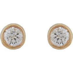 Minor Obsessions - Diamond & Gold Stud Earrings