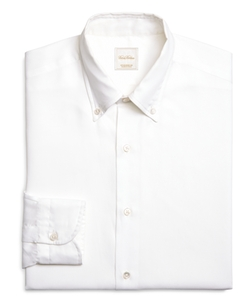 Brooks Brothers - Solid White Luxury Dress Shirt