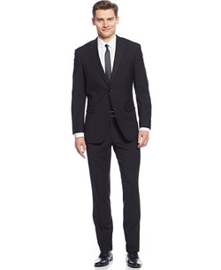 Perry Ellis - Mini-Check Slim-Fit Suit