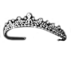Melissa Kay Collection - Precious Silver-Tone Crystal Tiara