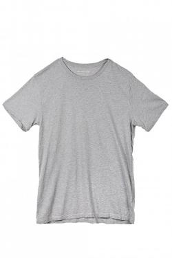 SAVE KHAKI  - SHORT SLEEVE CREW NECK TEE - LIGHT GREY