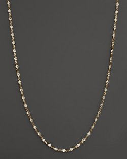 Temple St. Clair  - Yellow Gold Classic Chain With Faceted White Sapphires