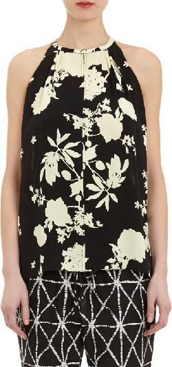 ALC - Flower Silhouette-Print Kennelly Tank