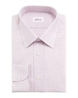 Brioni	 - Tickweave Checked Dress Shirt