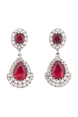 Ciner - Royal Ruby Earrings