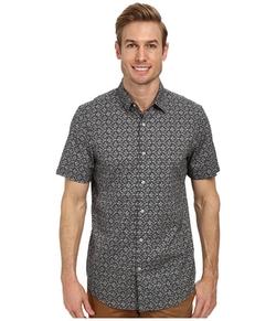 Perry Ellis - Slim Fit Floral On Mini Stripe Shirt