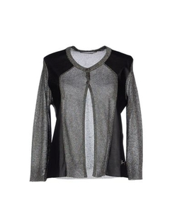 Annarita N. - Faux Leather Cardigan