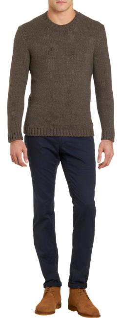 BARNEYS NEW YORK  - Marled Knit Pullover Sweater