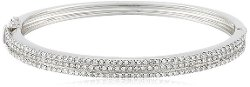 Judith Jack - Shine On Sterling Silver Crystal Triple Row Bangle Bracelet