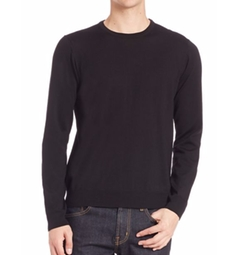 Saks Fifth Avenue Collection  - Long Sleeve Merino Wool Sweater