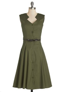 Knack for Numbers - Moss Dress