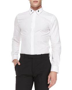 Givenchy  - Colorblock-Collar Shirt