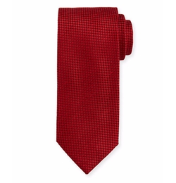 Brioni  - Textured Check Silk Tie