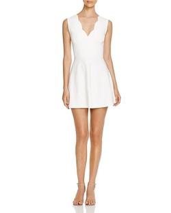 Aqua - Scalloped Fit & Flare Dress