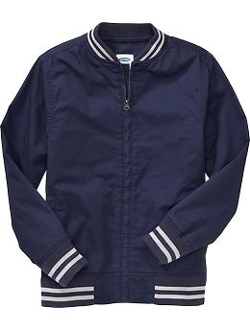Old Navy - Boys Twill Striped-Trim Bomber Jackets