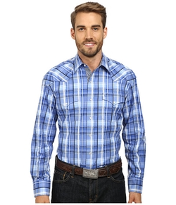 Stetson - Squared Off Plaid Flat Weave Shirt