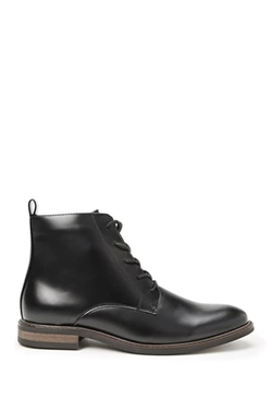 Men21 - Faux Leather Lace-Up Boots
