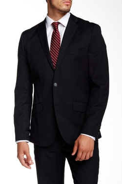 Original Penguin  - Solid Notch Lapel Two Button Wool Blazer