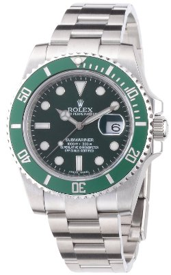 Rolex  - Submariner Green Dial Steel Mens Watch 116610LV