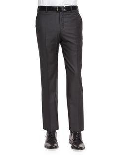 Zanella - Flat-Front Wool Trouser Pants